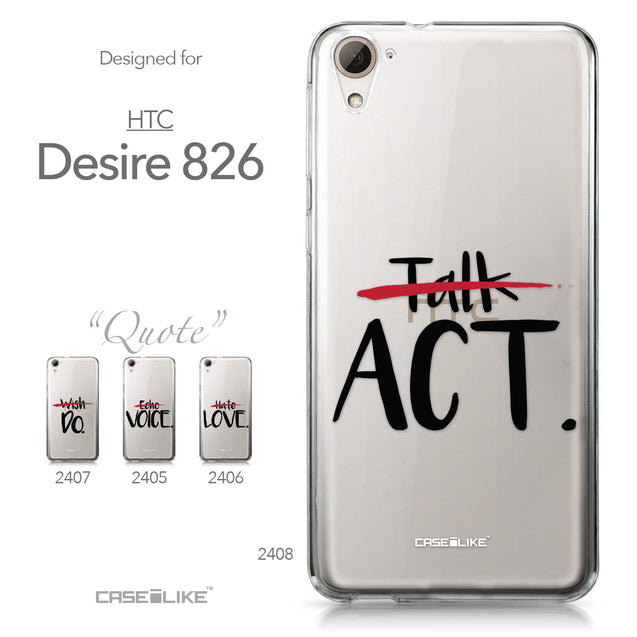 HTC Desire 826 case Quote 2408 Collection | CASEiLIKE.com