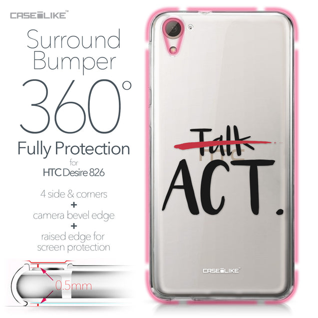 HTC Desire 826 case Quote 2408 Bumper Case Protection | CASEiLIKE.com