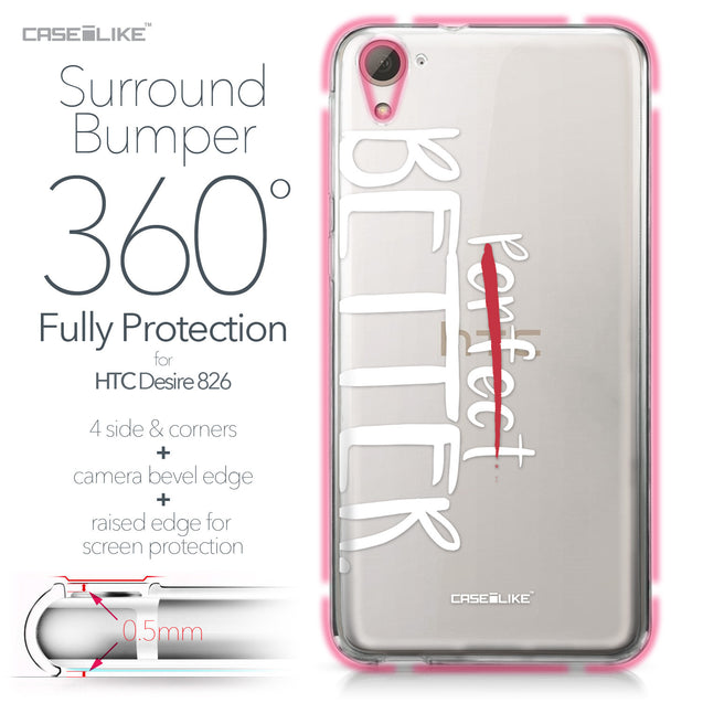 HTC Desire 826 case Quote 2410 Bumper Case Protection | CASEiLIKE.com