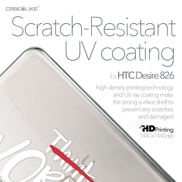 HTC Desire 826 case Quote 2411 with UV-Coating Scratch-Resistant Case | CASEiLIKE.com