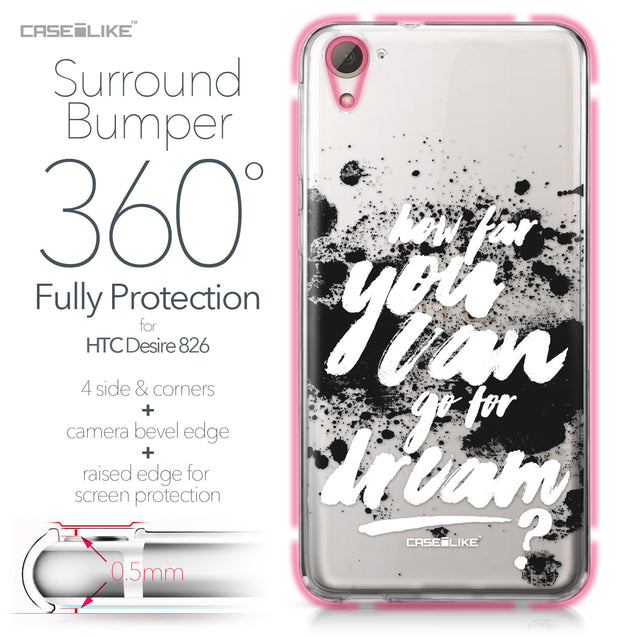 HTC Desire 826 case Quote 2413 Bumper Case Protection | CASEiLIKE.com
