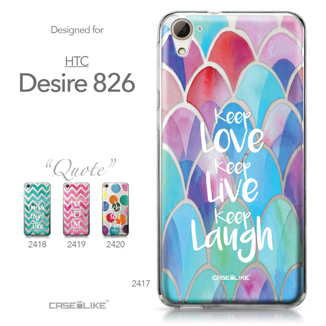 HTC Desire 826 case Quote 2417 Collection | CASEiLIKE.com