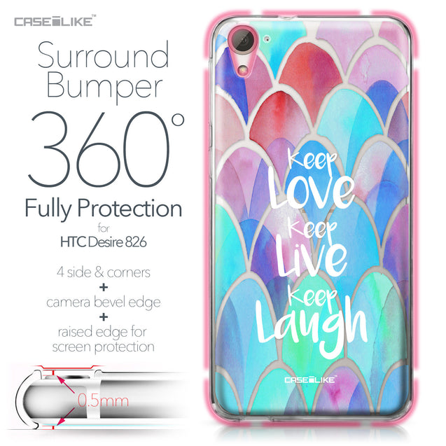 HTC Desire 826 case Quote 2417 Bumper Case Protection | CASEiLIKE.com