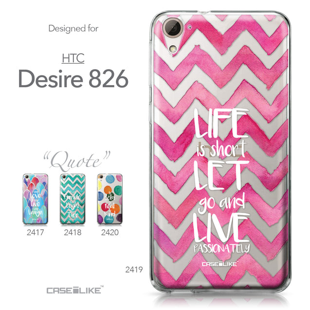 HTC Desire 826 case Quote 2419 Collection | CASEiLIKE.com