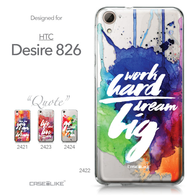 HTC Desire 826 case Quote 2422 Collection | CASEiLIKE.com