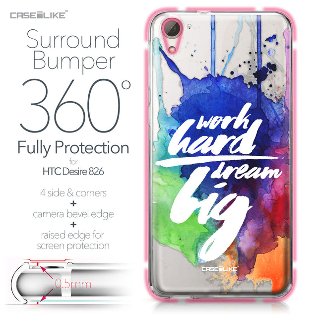 HTC Desire 826 case Quote 2422 Bumper Case Protection | CASEiLIKE.com