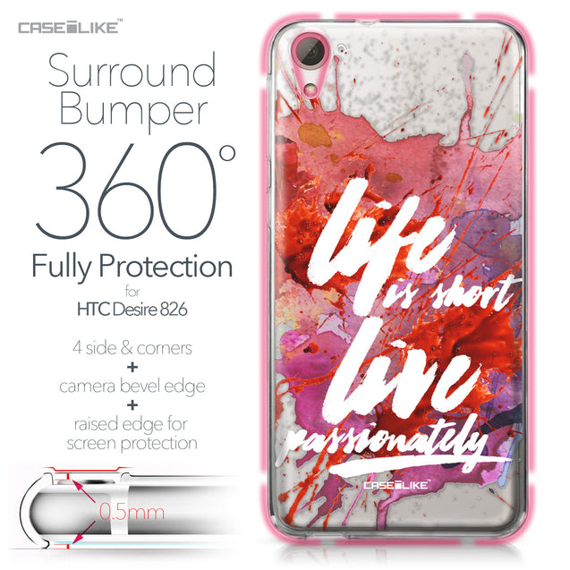 HTC Desire 826 case Quote 2423 Bumper Case Protection | CASEiLIKE.com