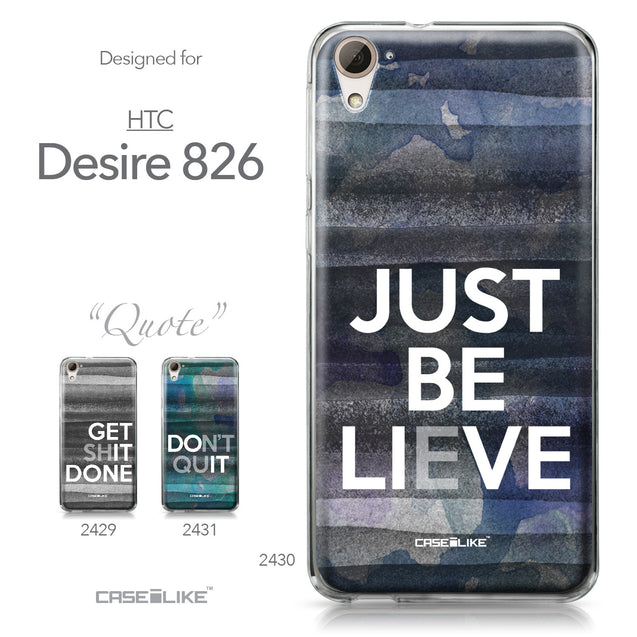 HTC Desire 826 case Quote 2430 Collection | CASEiLIKE.com