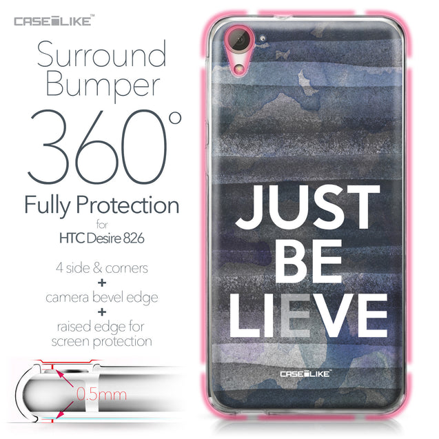 HTC Desire 826 case Quote 2430 Bumper Case Protection | CASEiLIKE.com