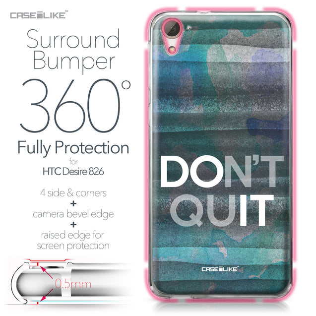 HTC Desire 826 case Quote 2431 Bumper Case Protection | CASEiLIKE.com