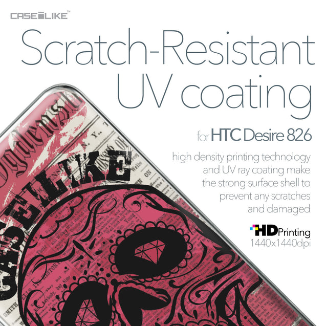 HTC Desire 826 case Art of Skull 2523 with UV-Coating Scratch-Resistant Case | CASEiLIKE.com