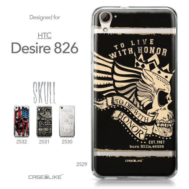 HTC Desire 826 case Art of Skull 2529 Collection | CASEiLIKE.com