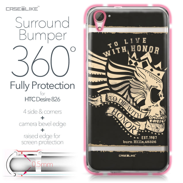 HTC Desire 826 case Art of Skull 2529 Bumper Case Protection | CASEiLIKE.com