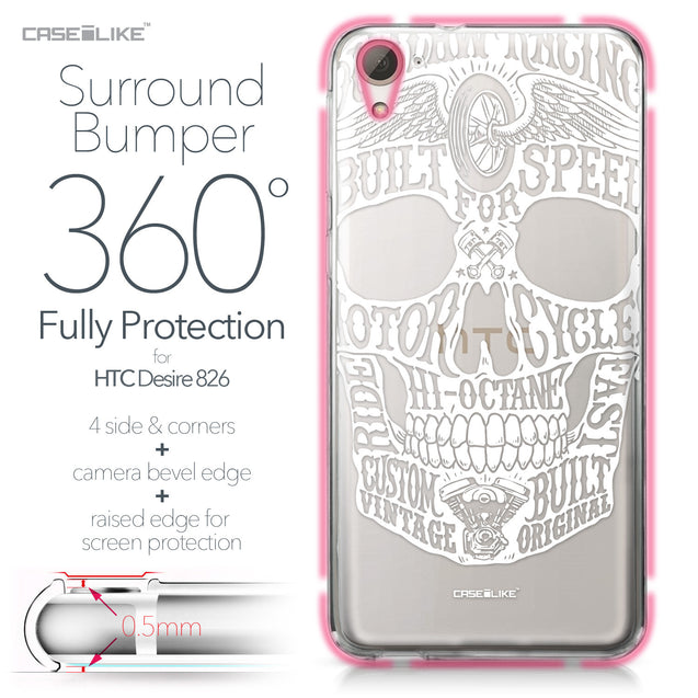 HTC Desire 826 case Art of Skull 2530 Bumper Case Protection | CASEiLIKE.com