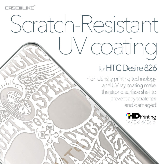 HTC Desire 826 case Art of Skull 2530 with UV-Coating Scratch-Resistant Case | CASEiLIKE.com