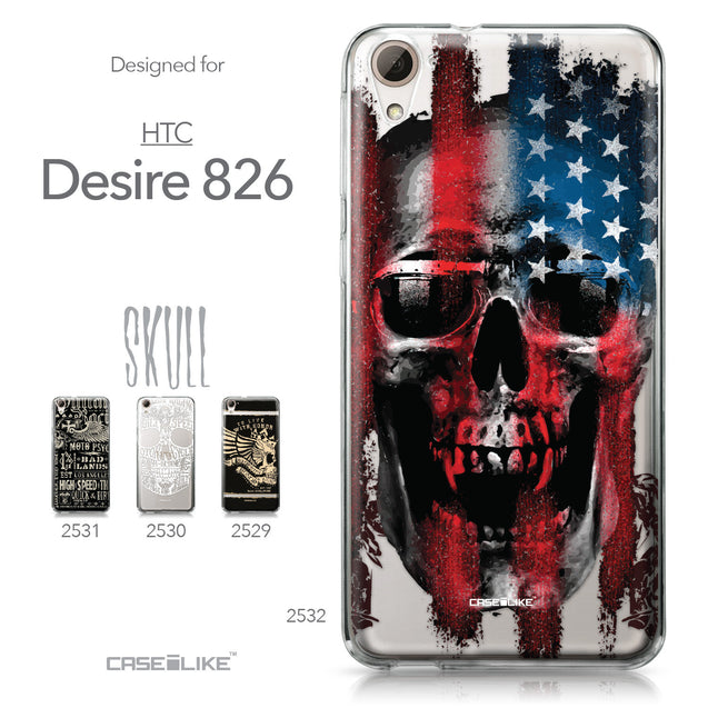 HTC Desire 826 case Art of Skull 2532 Collection | CASEiLIKE.com