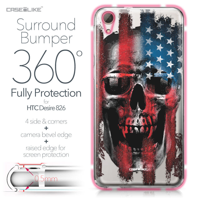 HTC Desire 826 case Art of Skull 2532 Bumper Case Protection | CASEiLIKE.com