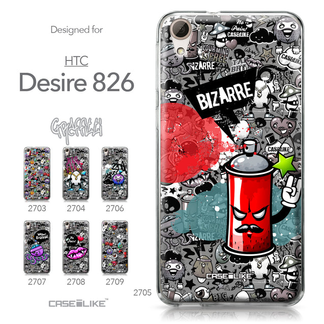 HTC Desire 826 case Graffiti 2705 Collection | CASEiLIKE.com