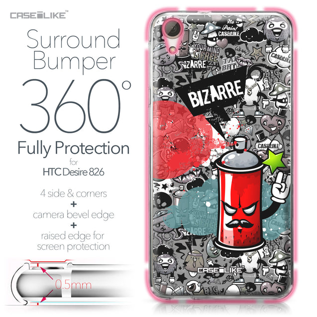 HTC Desire 826 case Graffiti 2705 Bumper Case Protection | CASEiLIKE.com