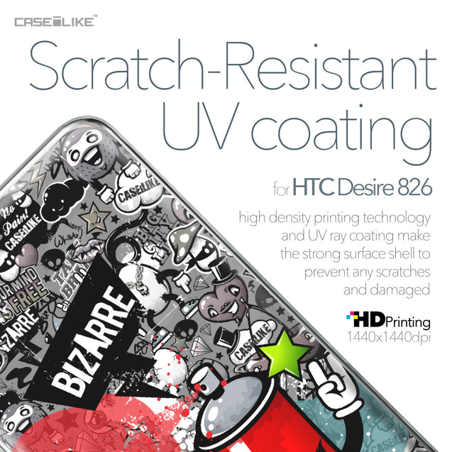 HTC Desire 826 case Graffiti 2705 with UV-Coating Scratch-Resistant Case | CASEiLIKE.com