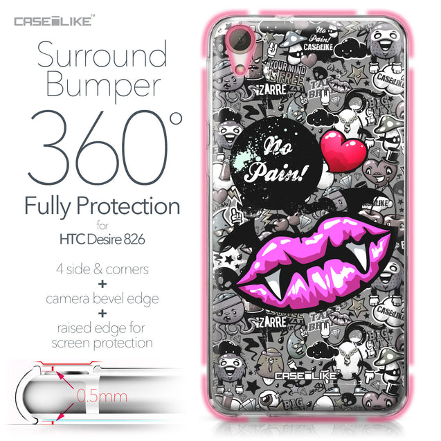 HTC Desire 826 case Graffiti 2708 Bumper Case Protection | CASEiLIKE.com