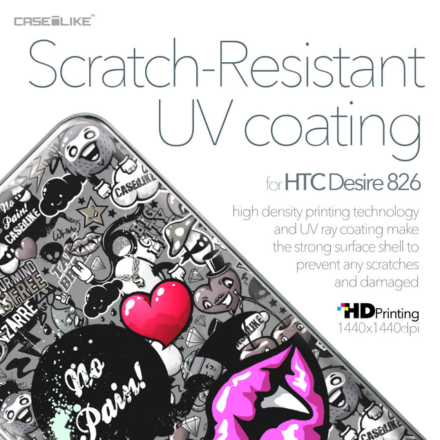 HTC Desire 826 case Graffiti 2708 with UV-Coating Scratch-Resistant Case | CASEiLIKE.com