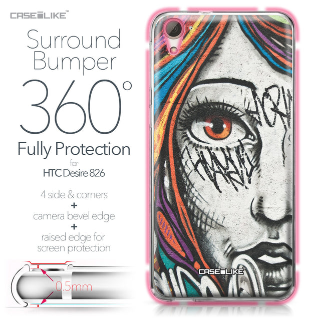 HTC Desire 826 case Graffiti Girl 2724 Bumper Case Protection | CASEiLIKE.com