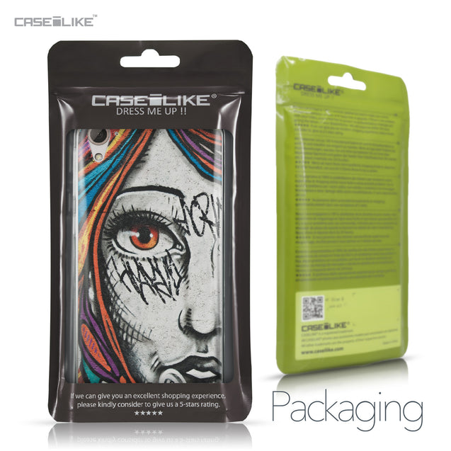 HTC Desire 826 case Graffiti Girl 2724 Retail Packaging | CASEiLIKE.com