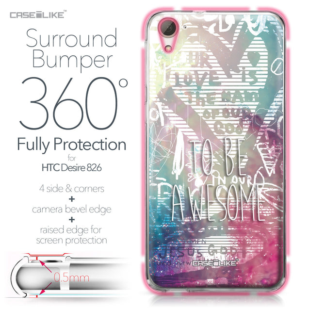 HTC Desire 826 case Graffiti 2726 Bumper Case Protection | CASEiLIKE.com