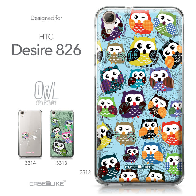 HTC Desire 826 case Owl Graphic Design 3312 Collection | CASEiLIKE.com