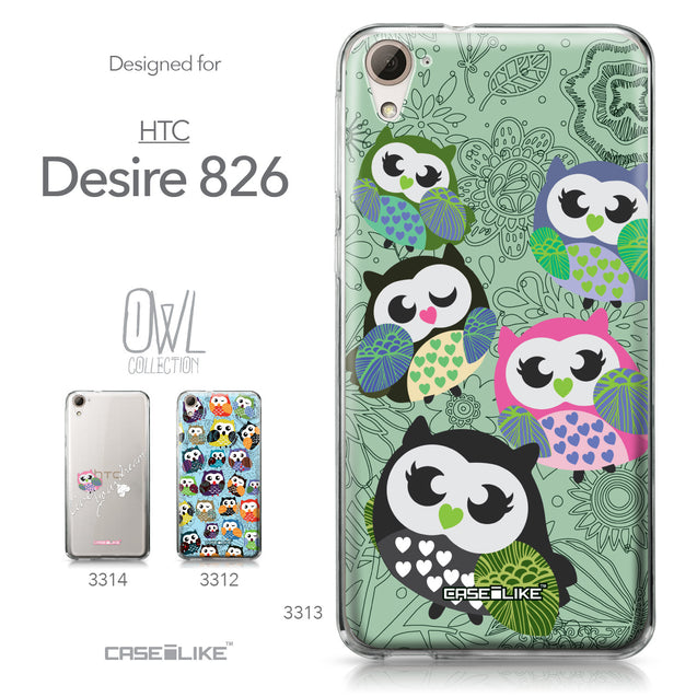 HTC Desire 826 case Owl Graphic Design 3313 Collection | CASEiLIKE.com