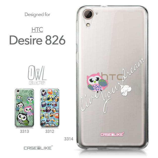 HTC Desire 826 case Owl Graphic Design 3314 Collection | CASEiLIKE.com