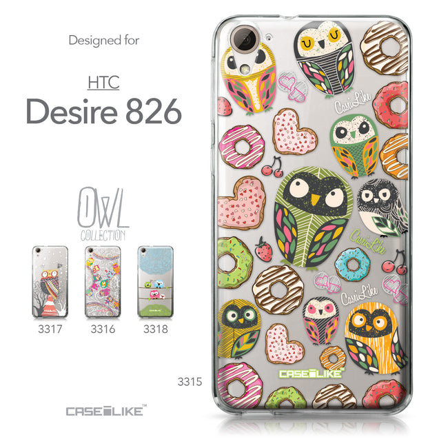 HTC Desire 826 case Owl Graphic Design 3315 Collection | CASEiLIKE.com