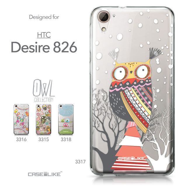 HTC Desire 826 case Owl Graphic Design 3317 Collection | CASEiLIKE.com