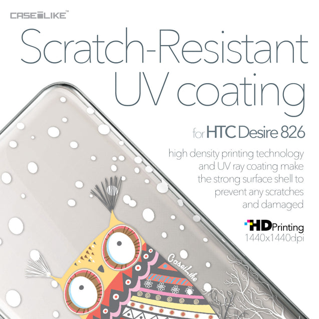 HTC Desire 826 case Owl Graphic Design 3317 with UV-Coating Scratch-Resistant Case | CASEiLIKE.com