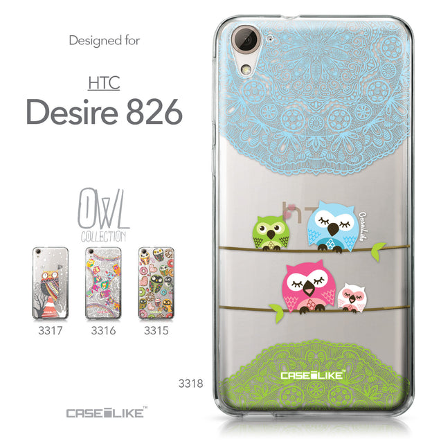 HTC Desire 826 case Owl Graphic Design 3318 Collection | CASEiLIKE.com