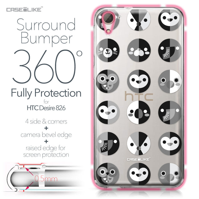 HTC Desire 826 case Animal Cartoon 3639 Bumper Case Protection | CASEiLIKE.com