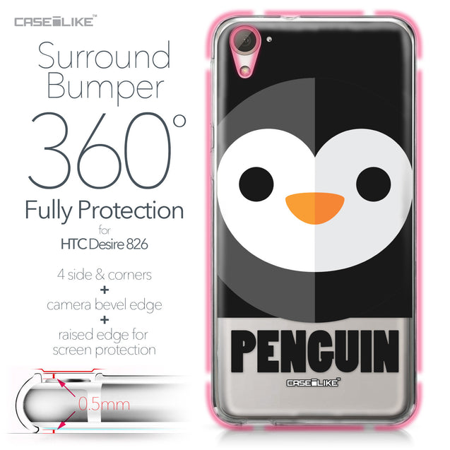 HTC Desire 826 case Animal Cartoon 3640 Bumper Case Protection | CASEiLIKE.com