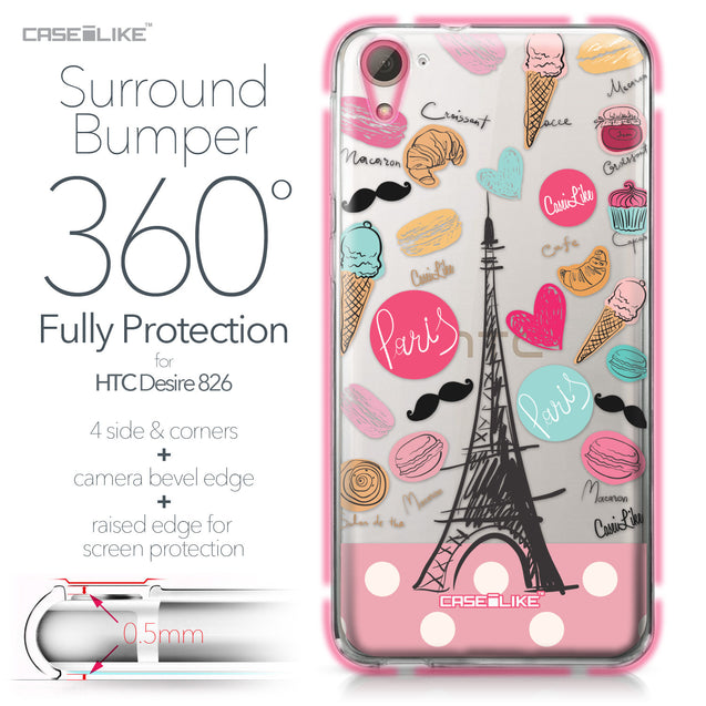 HTC Desire 826 case Paris Holiday 3904 Bumper Case Protection | CASEiLIKE.com