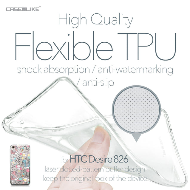 HTC Desire 826 case Paris Holiday 3906 Soft Gel Silicone Case | CASEiLIKE.com