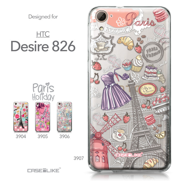HTC Desire 826 case Paris Holiday 3907 Collection | CASEiLIKE.com
