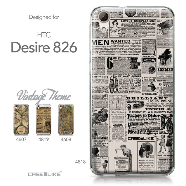 HTC Desire 826 case Vintage Newspaper Advertising 4818 Collection | CASEiLIKE.com