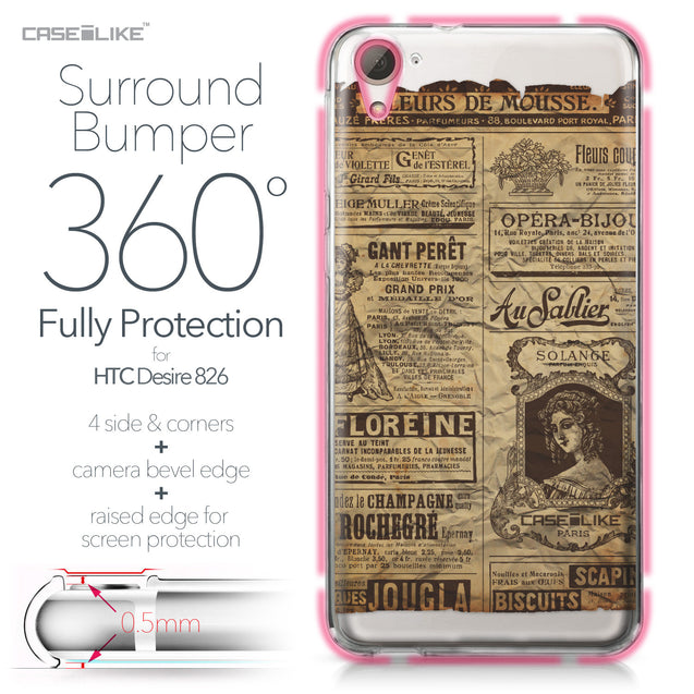 HTC Desire 826 case Vintage Newspaper Advertising 4819 Bumper Case Protection | CASEiLIKE.com