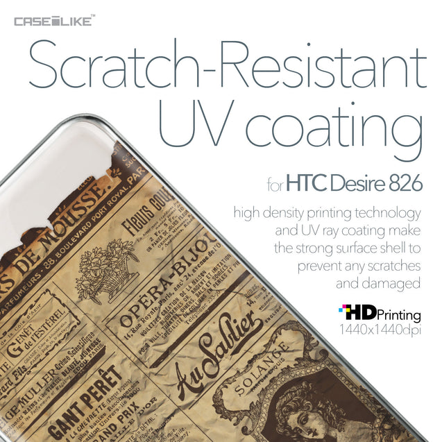 HTC Desire 826 case Vintage Newspaper Advertising 4819 with UV-Coating Scratch-Resistant Case | CASEiLIKE.com
