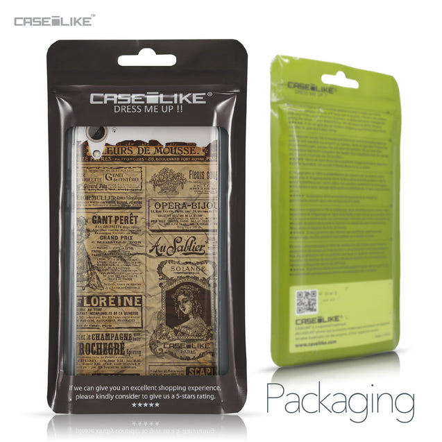 HTC Desire 826 case Vintage Newspaper Advertising 4819 Retail Packaging | CASEiLIKE.com