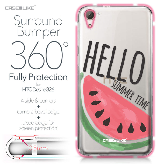 HTC Desire 826 case Water Melon 4821 Bumper Case Protection | CASEiLIKE.com