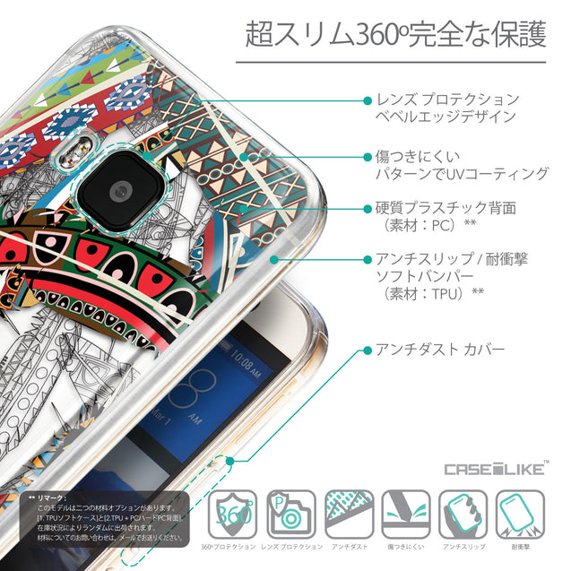 Details in Japanese - CASEiLIKE HTC One M9 back cover Indian Tribal Theme Pattern 2055