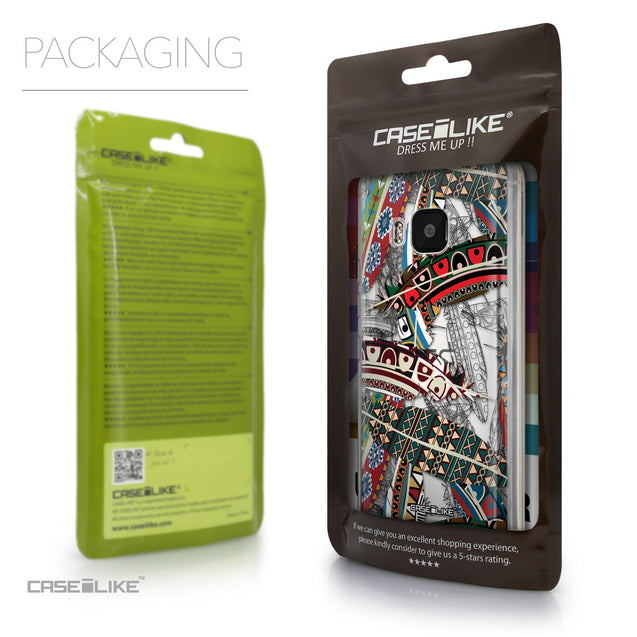 Packaging - CASEiLIKE HTC One M9 back cover Indian Tribal Theme Pattern 2055