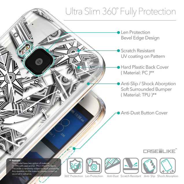Details in English - CASEiLIKE HTC One M9 back cover Indian Tribal Theme Pattern 2056