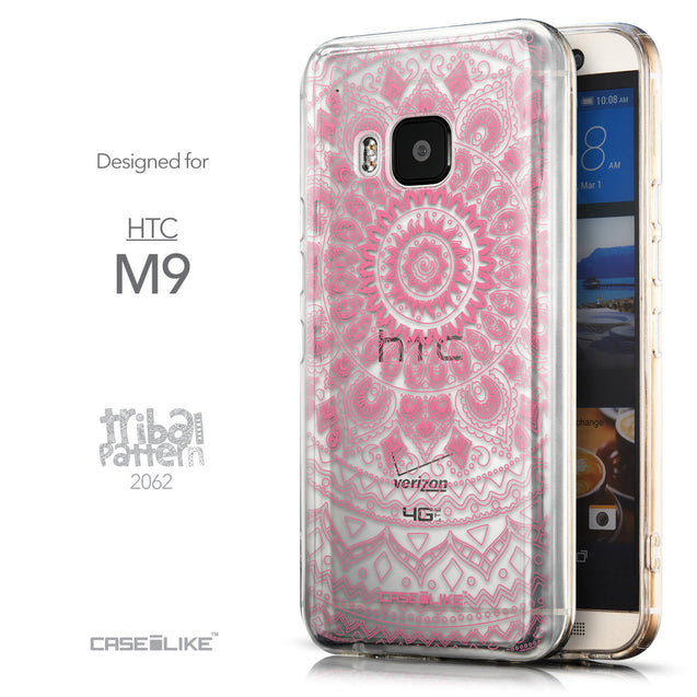 Front & Side View - CASEiLIKE HTC One M9 back cover Indian Line Art 2062